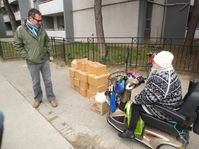 336 glass jars donated to the Bleecker Welselley Activity network for senior citizens