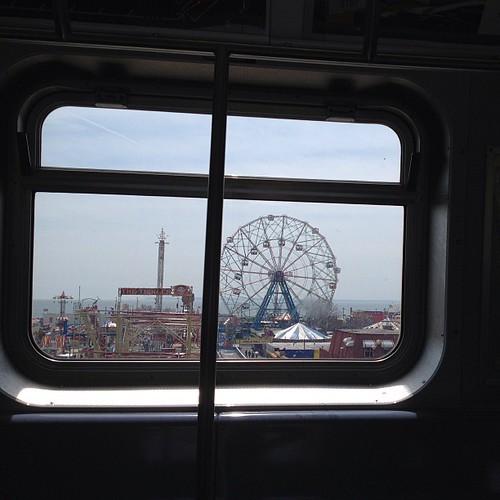 Coney Island-bound.