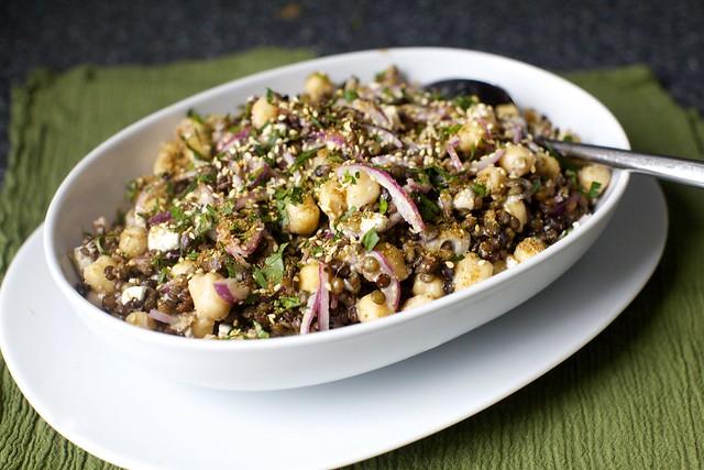 lentil and chickpea salad