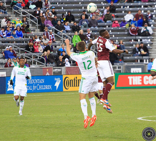 Danny Mwanga Rapids, and David Horst Timbers, Colorado Rapids Host Portland Timbers at Dick's Sporting Goods Park Colorado by Corbin Elliott Photography