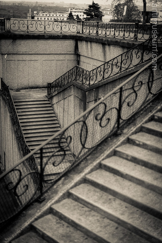 Escherite staircase in Mont Valérien - Suresnes