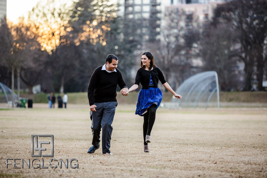 N & K Engagement Session   Piedmont Park   Atlanta Indian Wedding Photography
