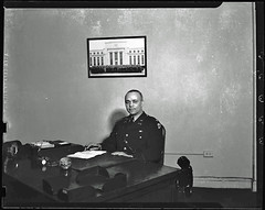 Major Campbell Johnson in His Office: 1942