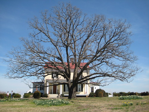 Front of the house with Post Oak