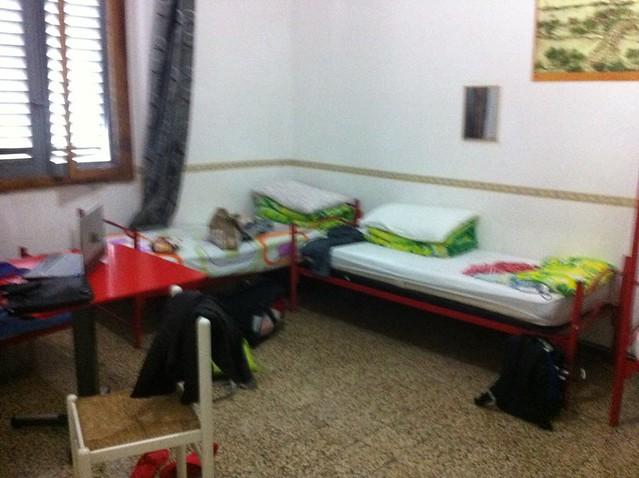 Dorm beds in hostel