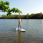 Paddle-boarding on the Wailua River