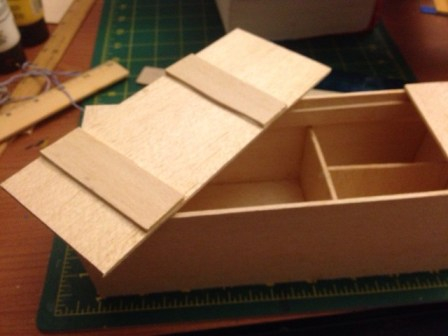 Model Japanese Carpenter's tool chest.