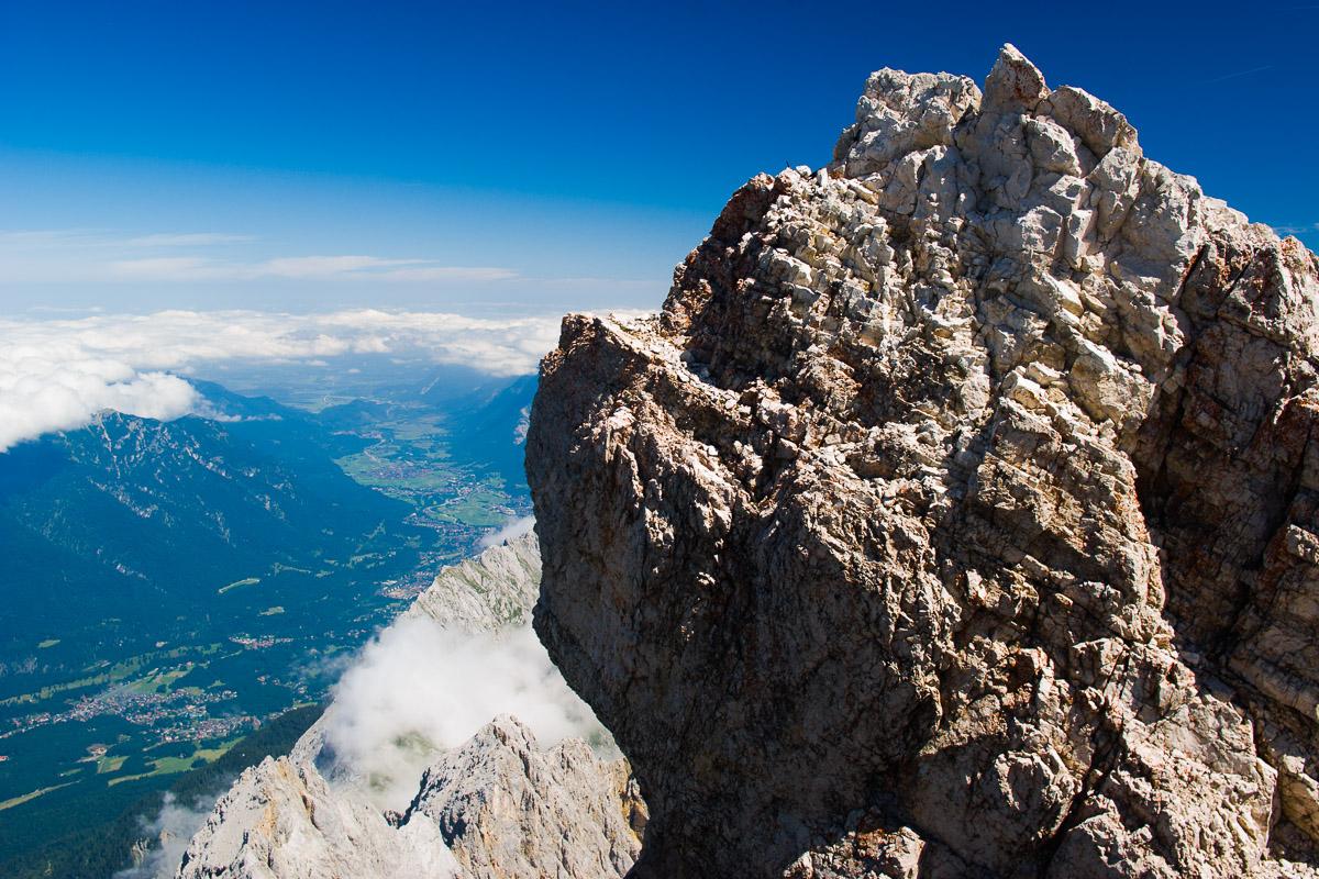 Desde la cima de Zugspitze