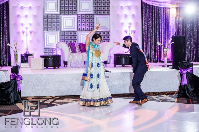 MC's at the Indian wedding reception