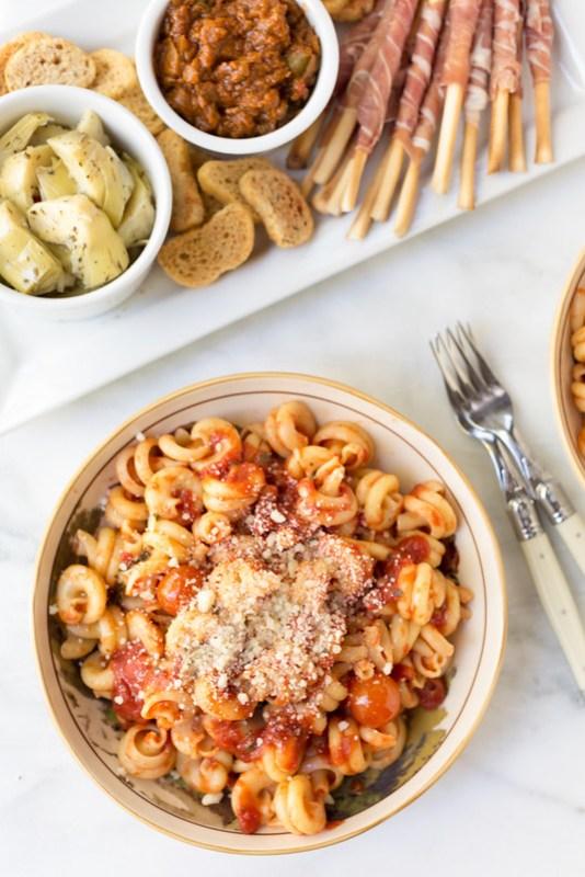 antipasto platter and pasta #sponsored #NYCWFF