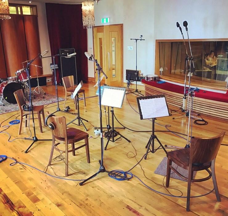 Rebekah Walton records \'Sing Me To Sleep\' at Roundhead Studios