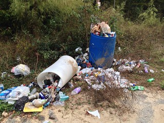 Trash at Edisto Put-in