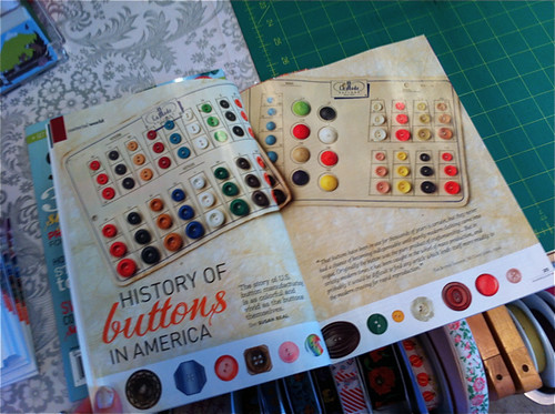 history of buttons article - Stitch summer 2013!