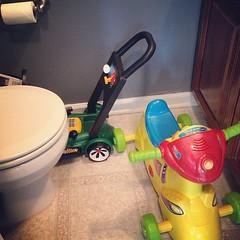 Parking garage or potty?  #lifewithatoddler
