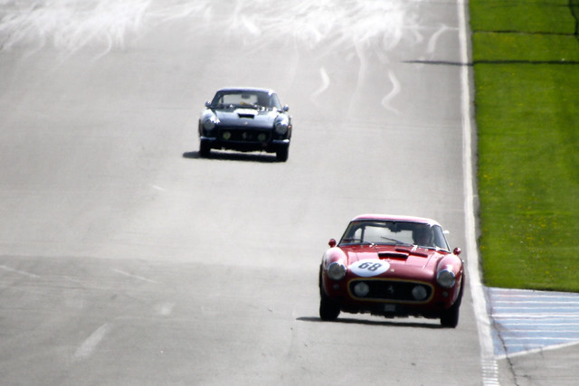 Racing at Donington Historic Festival, Donington Park, May 2012