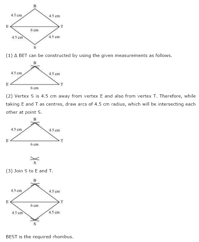 NCERT Solutions For Class 8th Maths Ch 4 Practical Geometry PDF Download