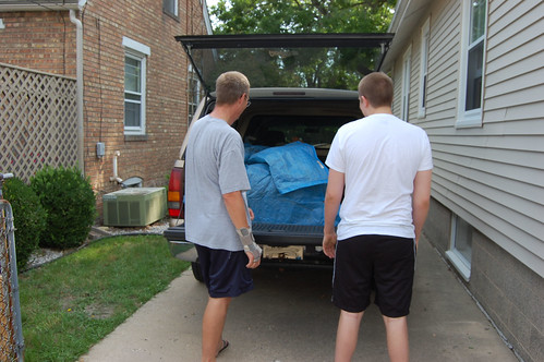 Mike and Aaron consult on what to pack in next
