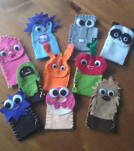 Moshi monster finger puppets