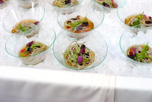David LeFevre (MB Post) green tea soba, lotus root, shiitake mushrooms