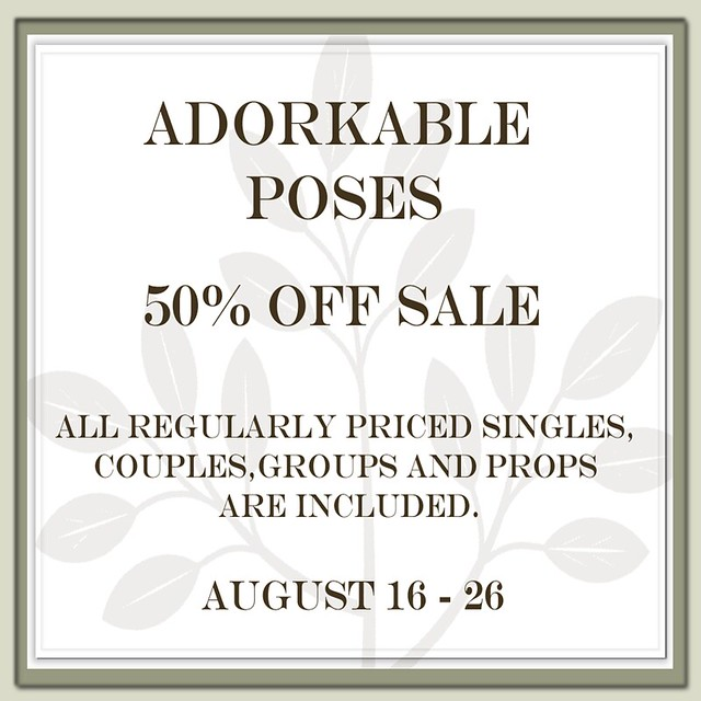 Adorkable Poses @ The Deck  50 percent off SALE