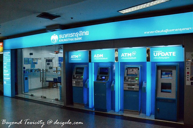atm machines at the bus station