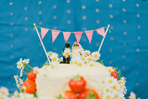 Cake & Lego cake-toppers