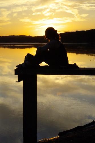 Eccup reservoir sunset