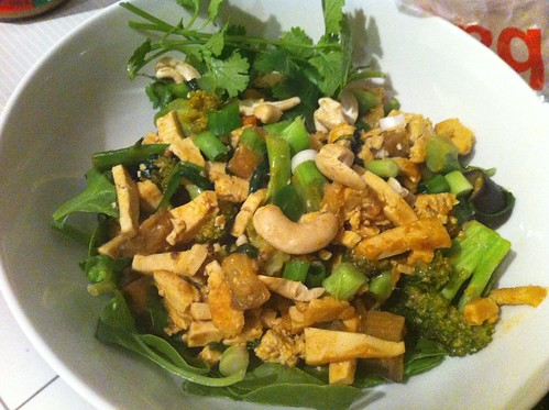 Spicy peanut stir-fry