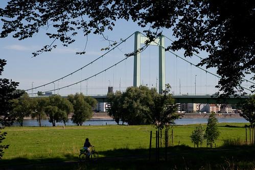 Das ersehnte Ziel: Die Mülheimer Brücke