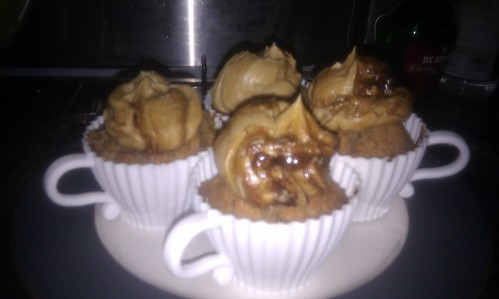 Coffee cupcakes for sister in law visit.