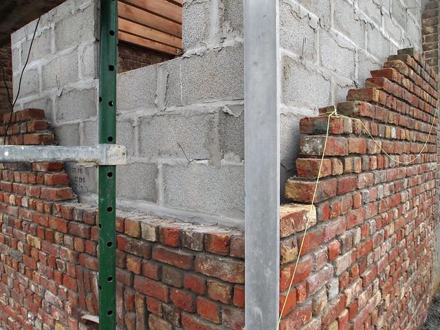 Parement de briques : l'angle