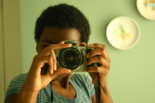 self portrait with Canon SLR