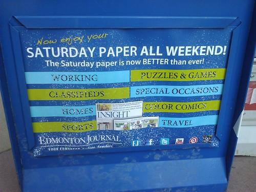 Saturday paper all weekend!