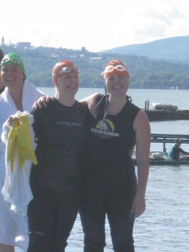 women swimmin - linda and aimee