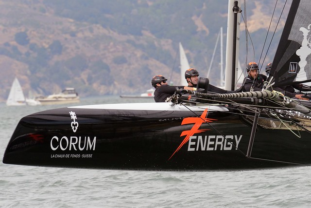Team Energy France - America's Cup SF 2012 por Robert Kuzma