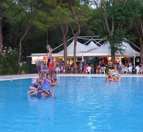 watergames at camping in cavallino