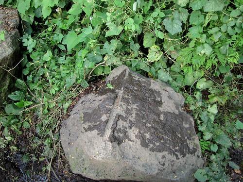 Señal del mortero con que se partieron esas piedras
