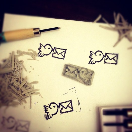 Rubber stamp: airmail