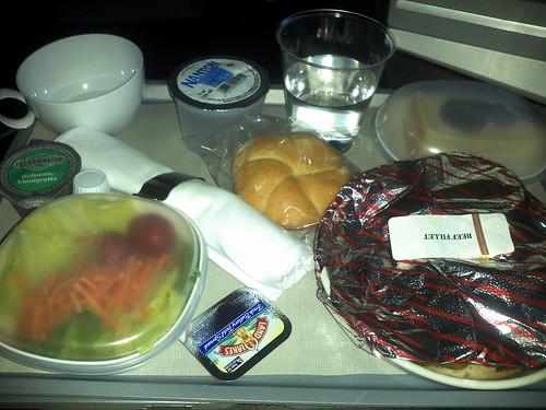 Dinner in World Traveller Plus