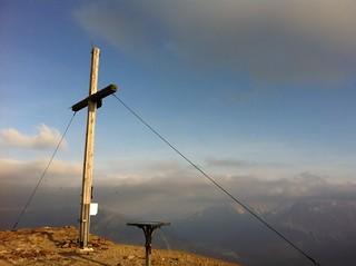 Gipfelkreuz Toblacher Pfannhorn 2.663 m