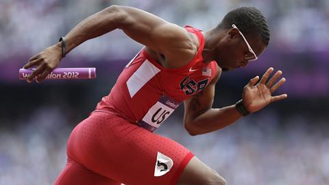 London Olympics Athletics Men Broken Leg