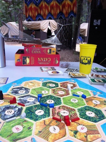 Settlers of Catan at the Lair of the Bear