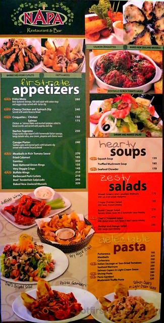 Napa Restaurant & Bar menu-002