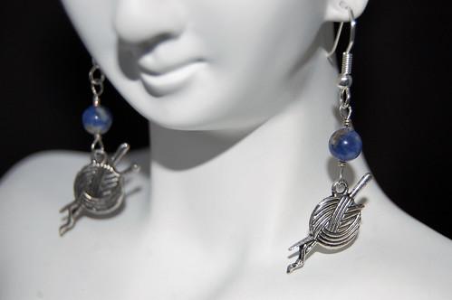 Sodalite Knitter Earrings