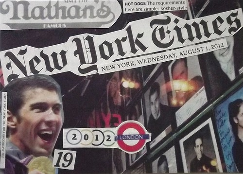 [4]  Mail Art: Newspaper Collage Postcard - NYTimes 01Aug2012 #4
