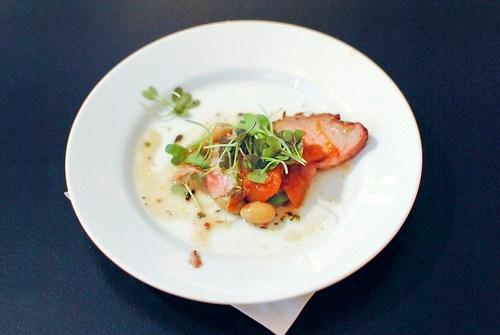 Floyd Cardoz (North End Grill) mangalitsa pork, chutney