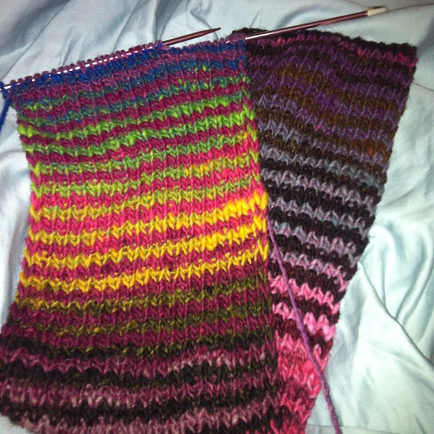 Just a little #noro #knitting in bed tonight