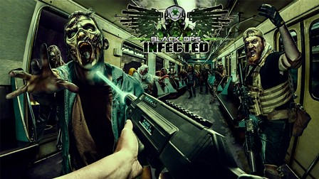 Black Ops Infected Hero image with logo slide