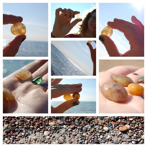 agates on agate beach
