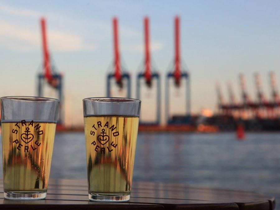Highlights van maritiem Hamburg, Strandperle, foto door Adrian Huber   Standort Hamburg
